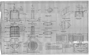 Plan de l'un des fûts du pont Champlain